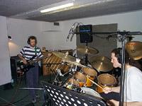 Fabien et Nicolas en répétition aux studios SMOM